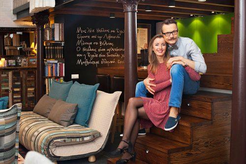 Architektas Dalius Regelskis su žmona Egle. D. Regelskio asm. archyvo nuotr.
