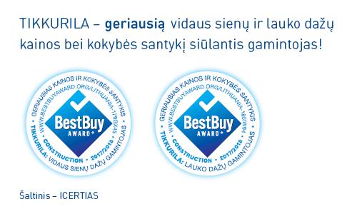 """Lietuviai išrinko geriausią kainos ir kokybės santykį siūlantį dažų gamintoją – juo pripažinta kompanija """"Tikkurila"""""""