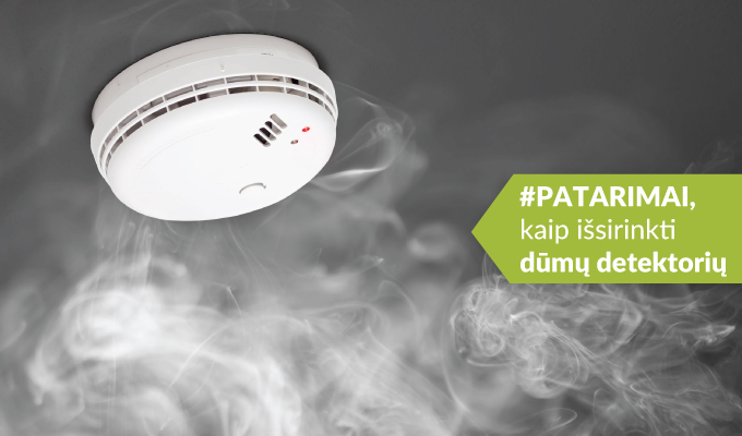 Patarimai, kaip protingai išsirinkti dūmų detektorių