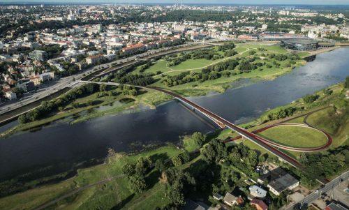 Architektai pristato pėsčiųjų tiltų į Nemuno salą projektinius pasiūlymus