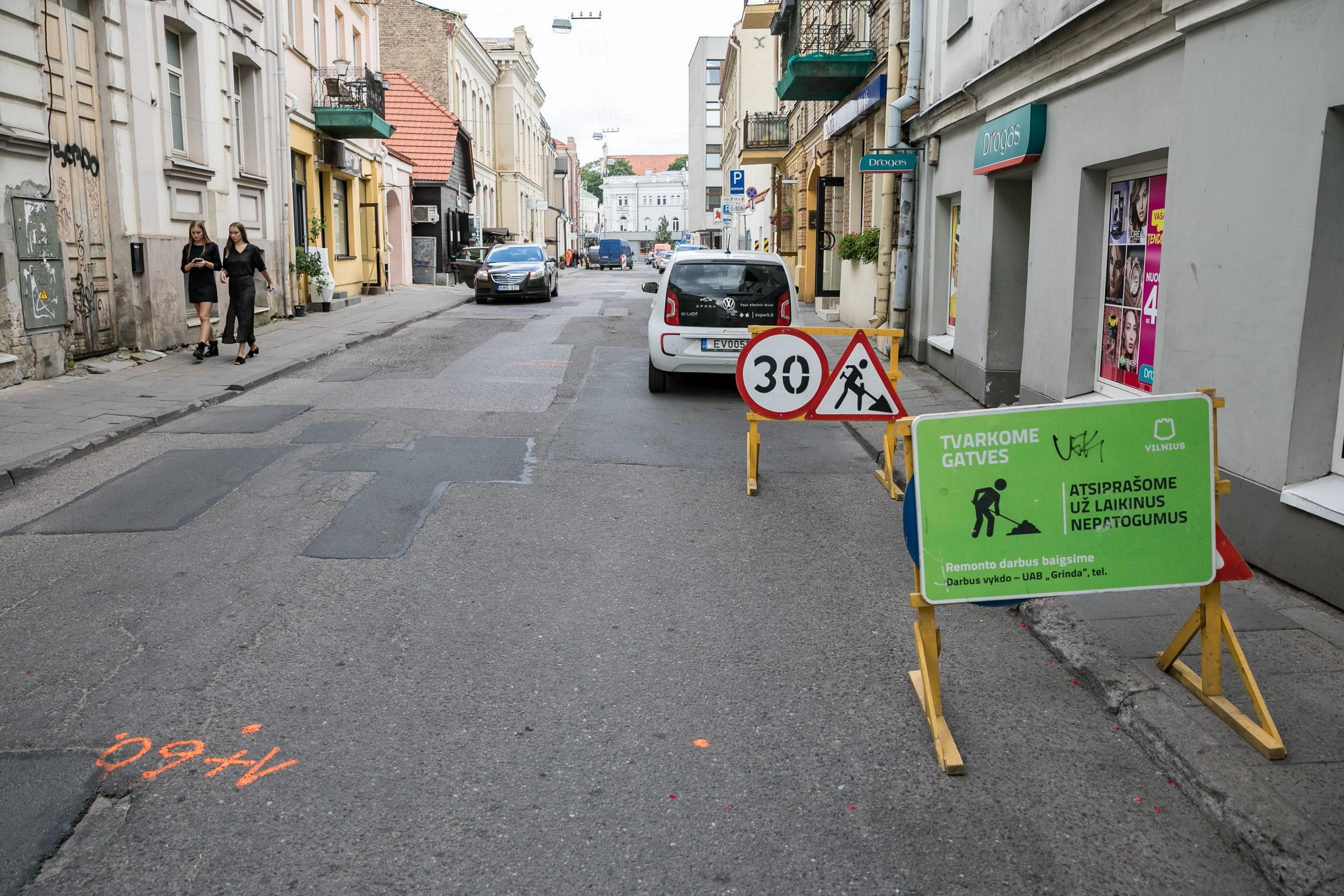 Sostinėje atnaujinama Totorių gatvė