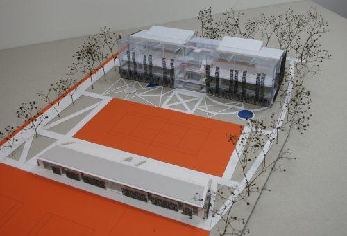 Klaipėdos RAT įvertino pastato su teniso kortais projektą