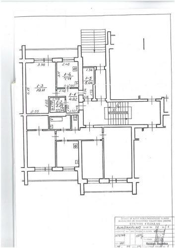 Utenoje išnuomojamas 1,5 kambario butas