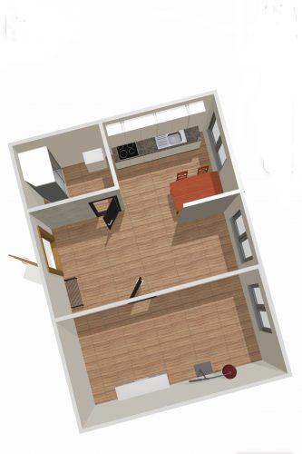 Parduodamas 1 kambario butas su holu Laukininkų g., Klaipėdoje