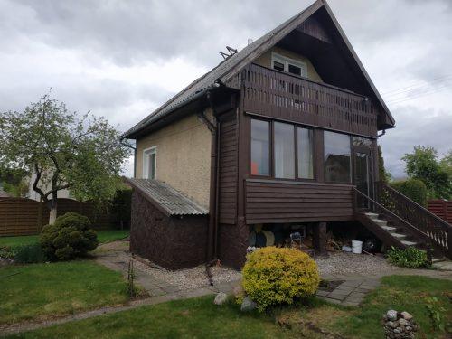 Parduodamas sodo namas (80 m2) su ūkiniu pastatu
