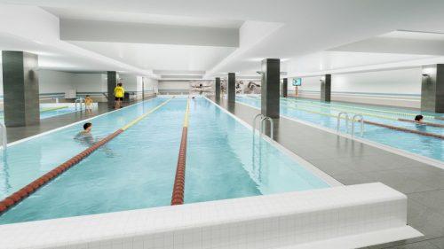 """""""Oze"""" įpusėjo plaukimo baseinų įrengimo darbai: atidarymas sausį"""